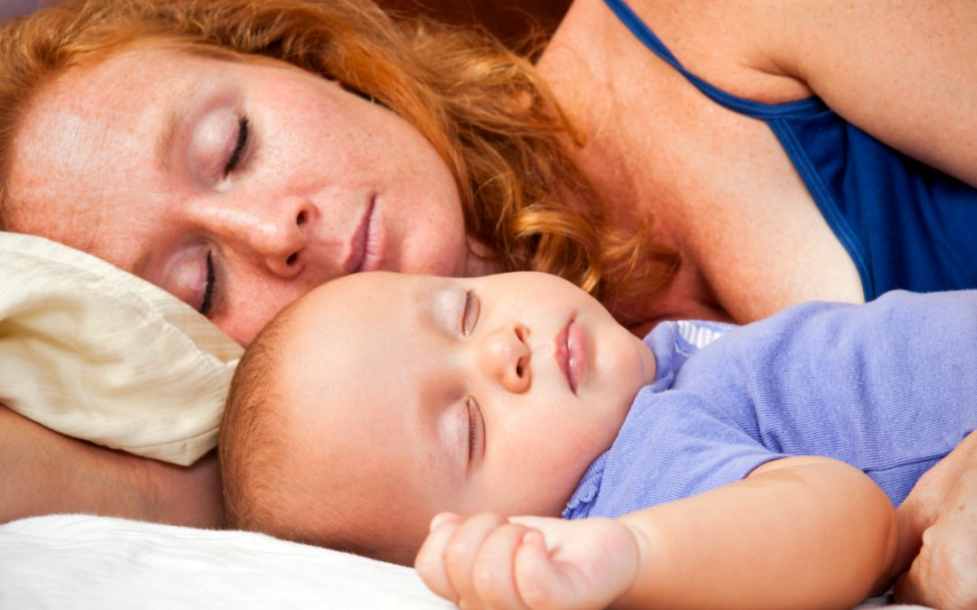 mother and baby co sleeping in bed - Annie's Child Sleep Solutions